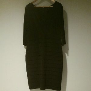 Ann Taylor sz 18 Black dress 3/4 sleeve